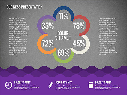 Presentation with Icons and Shapes in Flat Style, Slide 15, 02155, Presentation Templates — PoweredTemplate.com