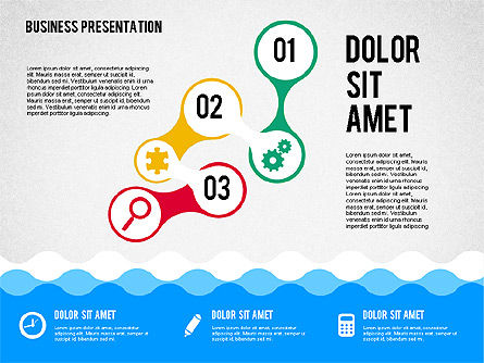 presentation with icons and shapes in flat style for powerpoint, Powerpoint templates
