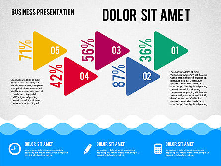Presentation with Icons and Shapes in Flat Style, Slide 5, 02155, Presentation Templates — PoweredTemplate.com
