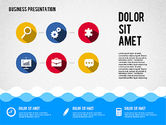 Presentation Templates: Presentation with Icons and Shapes in Flat Style #02155