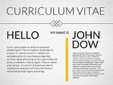Presentation Templates: Elegant Curriculum Vitae Template  #02156