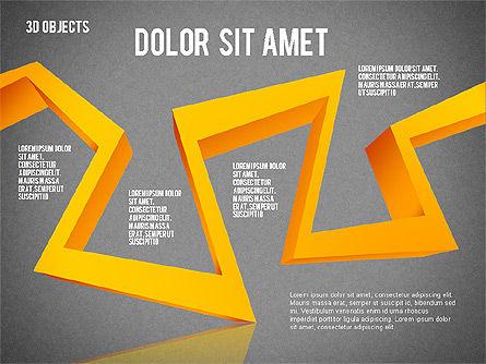 Visual 3D Shapes, Slide 16, 02157, Shapes — PoweredTemplate.com