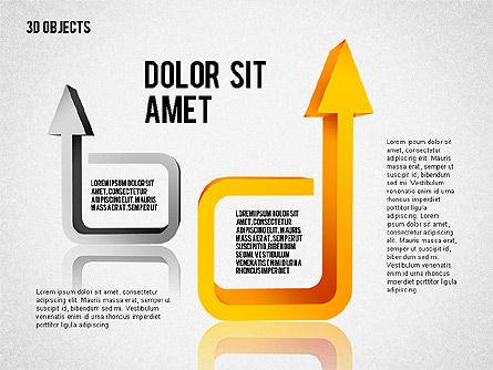 Visual 3D Shapes, Slide 7, 02157, Shapes — PoweredTemplate.com