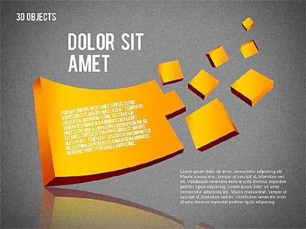 Visual 3D Shapes, Slide 9, 02157, Shapes — PoweredTemplate.com