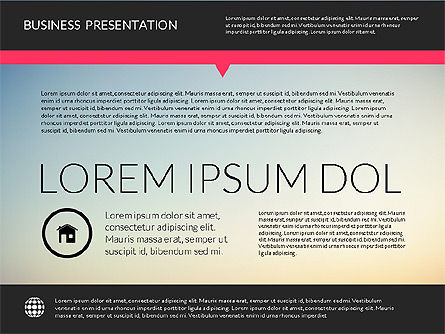 Modern Presentation Template, 02158, Presentation Templates — PoweredTemplate.com