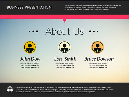 Modern Presentation Template, Slide 2, 02158, Presentation Templates — PoweredTemplate.com