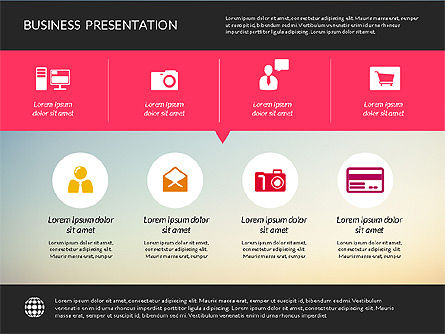 Modern Presentation Template, Slide 4, 02158, Presentation Templates — PoweredTemplate.com