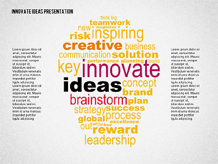 Innovative Ideas Presentation, 02159, Presentation Templates — PoweredTemplate.com