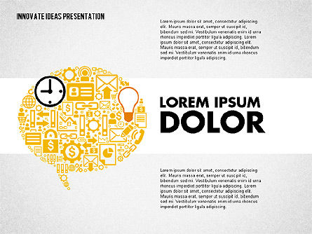 Innovative Ideas Presentation, Slide 2, 02159, Presentation Templates — PoweredTemplate.com
