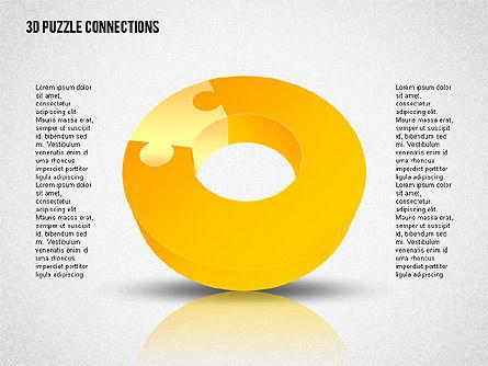 3D Donut Puzzle Chart Slide 2
