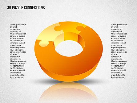 3D Donut Puzzle Chart Slide 3