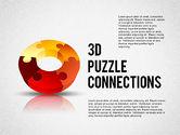 Shapes: 3d Donut Puzzle Diagramm #02162