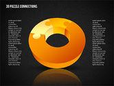 3D Donut Puzzle Chart#11