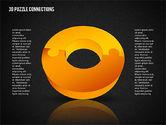 3D Donut Puzzle Chart#15