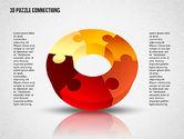 3D Donut Puzzle Chart#6