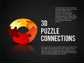 3D Donut Puzzle Chart#9