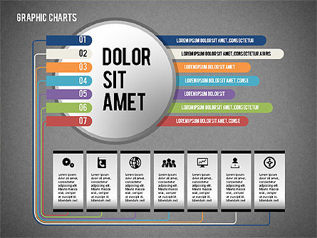 Charts Collection in Flat Design, Slide 10, 02163, Business Models — PoweredTemplate.com