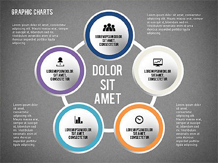Charts Collection in Flat Design, Slide 12, 02163, Business Models — PoweredTemplate.com