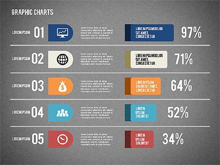 Charts Collection in Flat Design, Slide 13, 02163, Business Models — PoweredTemplate.com