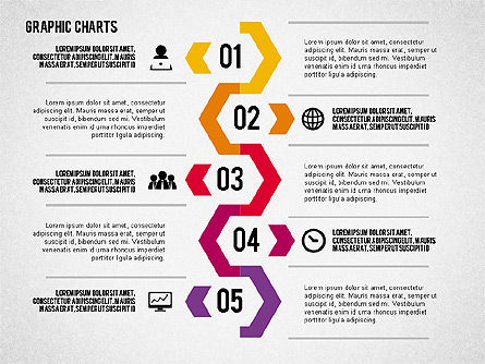 Charts Collection in Flat Design, Slide 8, 02163, Business Models — PoweredTemplate.com