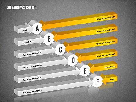 3D Arrows Chart Collection, Slide 10, 02166, Shapes — PoweredTemplate.com