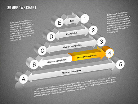 3D Arrows Chart Collection, Slide 11, 02166, Shapes — PoweredTemplate.com