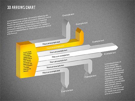 3D Arrows Chart Collection, Slide 13, 02166, Shapes — PoweredTemplate.com
