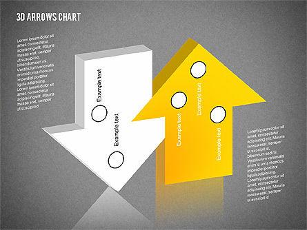 3D Arrows Chart Collection, Slide 14, 02166, Shapes — PoweredTemplate.com