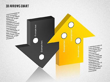 3D Arrows Chart Collection, Slide 6, 02166, Shapes — PoweredTemplate.com