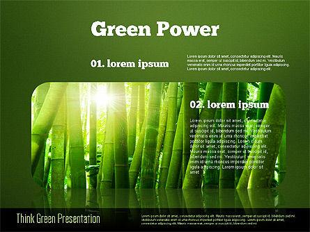 Think Green Presentation Template, Slide 13, 02167, Presentation Templates — PoweredTemplate.com