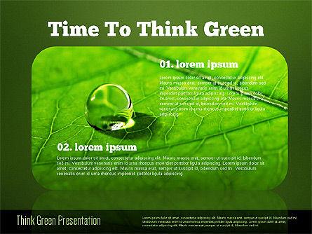 Think Green Presentation Template, Slide 15, 02167, Presentation Templates — PoweredTemplate.com