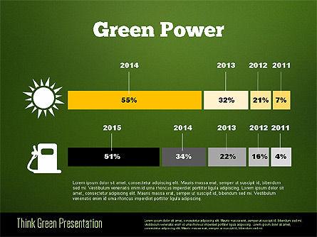 Think Green Presentation Template, Slide 16, 02167, Presentation Templates — PoweredTemplate.com