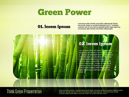 Think Green Presentation Template, Slide 3, 02167, Presentation Templates — PoweredTemplate.com