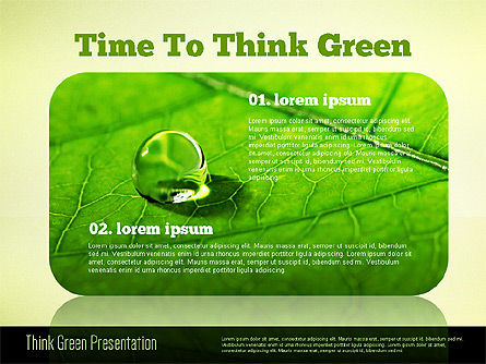 Think Green Presentation Template, Slide 5, 02167, Presentation Templates — PoweredTemplate.com