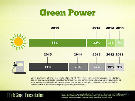 Think Green Presentation Template, Slide 6, 02167, Presentation Templates — PoweredTemplate.com