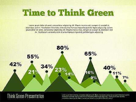 Think Green Presentation Template, Slide 7, 02167, Presentation Templates — PoweredTemplate.com