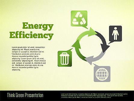 Think Green Presentation Template, Slide 9, 02167, Presentation Templates — PoweredTemplate.com