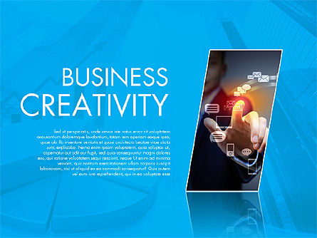 Presentation Templates: Business Creativity Presentation Template #02168
