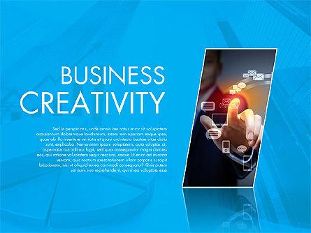 Presentation Templates: Modelo de apresentação de criatividade empresarial #02168
