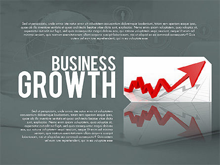 Business Growth Presentation Template, 02169, Presentation Templates — PoweredTemplate.com