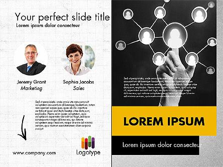 Dark and Yellow Presentation Template, Slide 10, 02178, Presentation Templates — PoweredTemplate.com