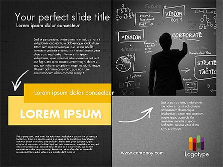 Dark and Yellow Presentation Template, Slide 12, 02178, Presentation Templates — PoweredTemplate.com
