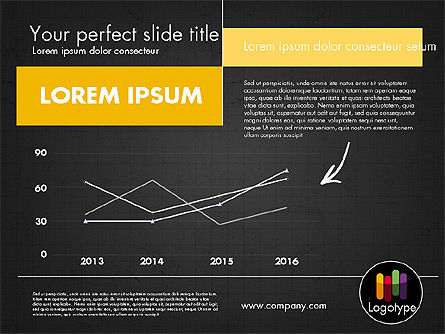 Dark and Yellow Presentation Template, Slide 14, 02178, Presentation Templates — PoweredTemplate.com