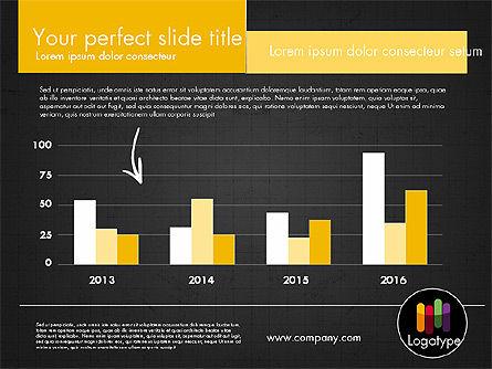 Dark and Yellow Presentation Template, Slide 17, 02178, Presentation Templates — PoweredTemplate.com