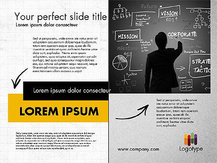 Dark and Yellow Presentation Template, Slide 2, 02178, Presentation Templates — PoweredTemplate.com