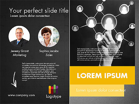 Dark and Yellow Presentation Template, Slide 20, 02178, Presentation Templates — PoweredTemplate.com