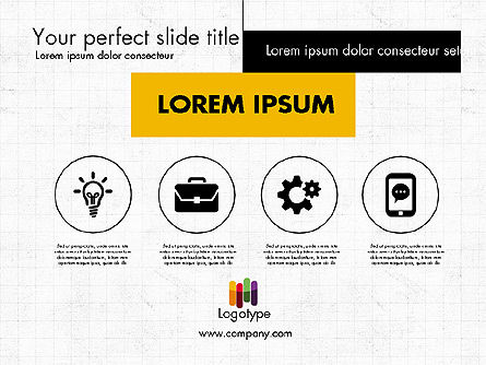 Dark and Yellow Presentation Template, Slide 3, 02178, Presentation Templates — PoweredTemplate.com