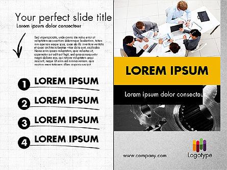 Dark and Yellow Presentation Template, Slide 5, 02178, Presentation Templates — PoweredTemplate.com