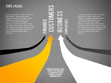 Core Values Presentation Concept, Slide 10, 02183, Business Models — PoweredTemplate.com