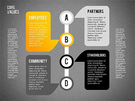 Core Values Presentation Concept, Slide 12, 02183, Business Models — PoweredTemplate.com
